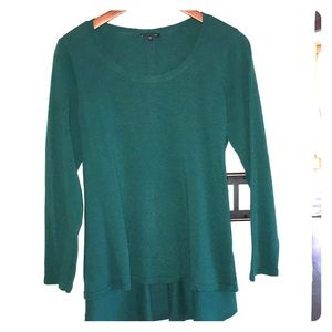 Eileen Fisher 100% Merino wool high low sweater.